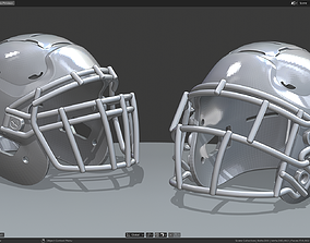 3D print model Modern Football Helmet Simplified