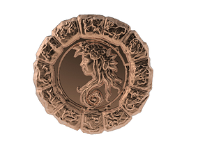 Medal Astro Virgo 3D printable model