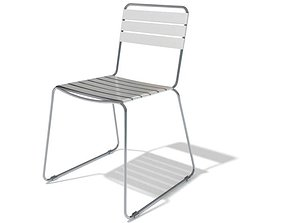 Minimalist Steel General Purpose Chair 3D model