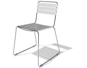 Minimalist Steel General Purpose Chair 3D model