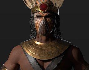 warrior King 3D asset