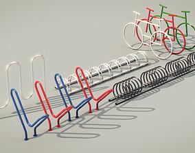 3D Bike Racks collection set
