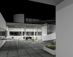 3D model Revit villa savoye le corbusier