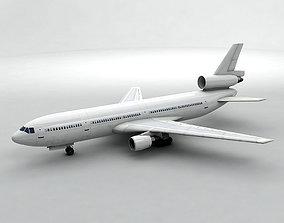 3D model DC-10 Airliner - Generic White