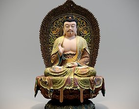3D printable model Painted Buddha statue