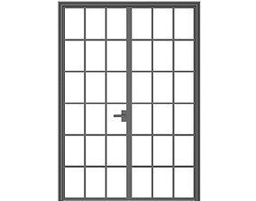 Double Glass Door door 3D model