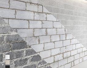 3D Block wall set 01