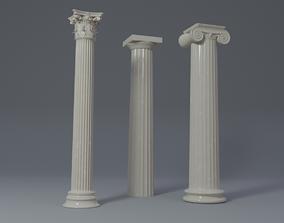 ancient 3D model Classical greek columns