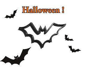 Cookie cutter Halloween Bat 3D print model