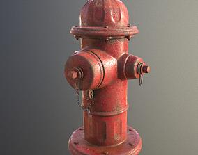 3D asset VR / AR ready PBR Fire Hydrant