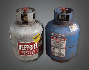 Propane Tanks TLS - PBR Game Ready 3D model