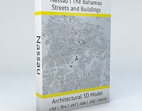 3D model Nassau Streets and Buildings caribbean