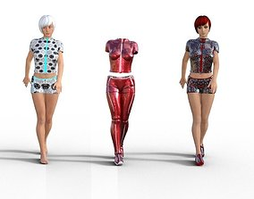 Line clothes - Genesis 3 female 3D asset