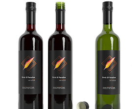 bar Wine bottle 3D
