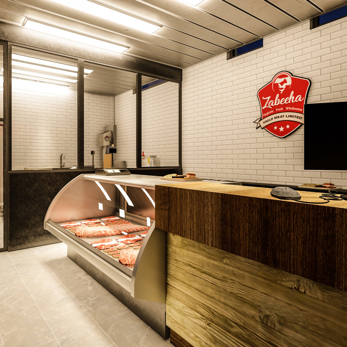 Interior Design Of Meat Shop Cgtrader
