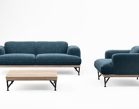 3D model De la Espada armstrong sofa and armchair