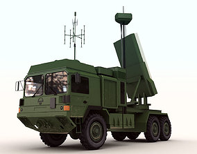 Military Surveillance Radar Truck 3D