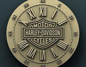 Harley Davidson wall clock 3d stl model 1