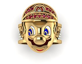 3D printable model diamond mario ring kid and adult sizes