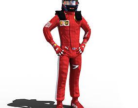 Kimi Raikkonen 2018 3D asset