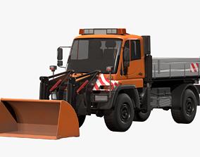3D model Unimog U500 Front Loader Truck
