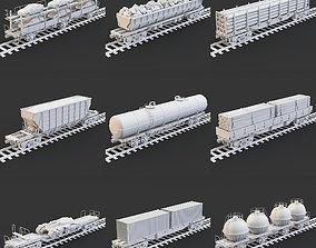 Wagons transportation 3D model