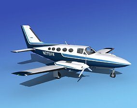 Cessna 414A Chancellor V01 3D