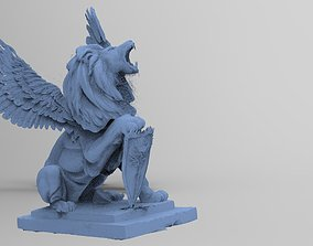 3D Lion statue With wings