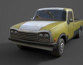 3D asset Generic PickUp Yellow