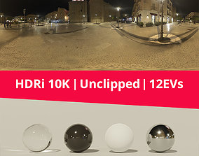 HDRi Night square and castle 3D