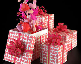 3D model Valentine Gift Boxes