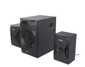 PHILIPS MMS4040F PC SPEAKER BLACK 3D model