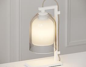 3D model Articolo - Lumi Table Lamp -Matte White - Clear 1