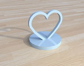 3D printable model heart with base