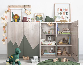3D model A Large Set Of Decor For A Nursery In Jungle