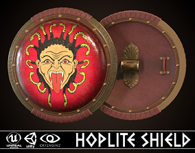 3D asset Hoplite Shield Gorgon