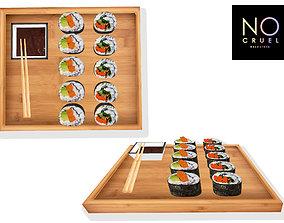 3D asset Sushi desk model