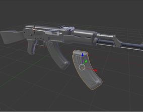 3D model kalashnikov AK-47