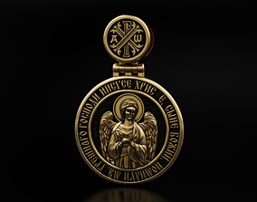 3D printable model Pendant with Saint Alexander and 2