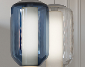 Mini-Mason Pendant Light By Tech Lighting 3D model