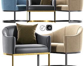 Jolie Accent Armchair With Pillow 3D