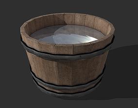 3D model game-ready Water Bucket