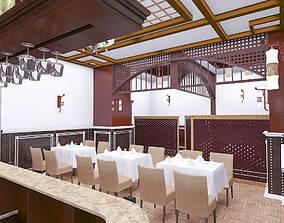 3D model cafe restaurant interior