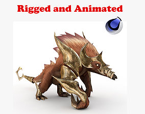 Monster Rigged and Animated 3D model