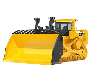 3D model vehicle textures Bulldozer