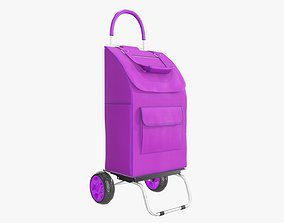 Foldable utility cart with bag 3D