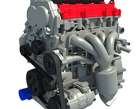 3D model Car Engine vehicle