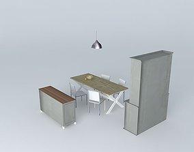 3D model Dining Room Maisons du Monde