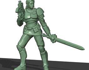 Lieutenant Guard Girl 3D print model