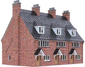 3D model game-ready English Brick House 17